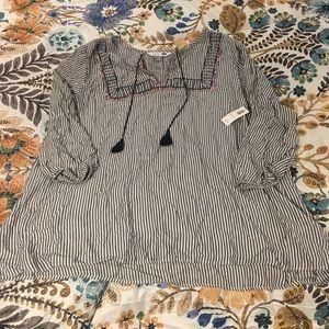 Old Navy sz XXL the tunic shirt NWT blue/white